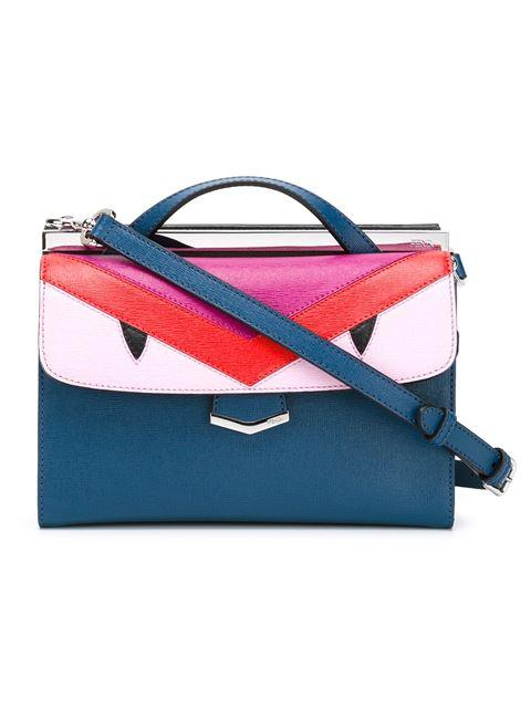 0ad615d96e72 Fendi Demi Jour Monster-Eyes Leather Cross-Body Bag In Blue