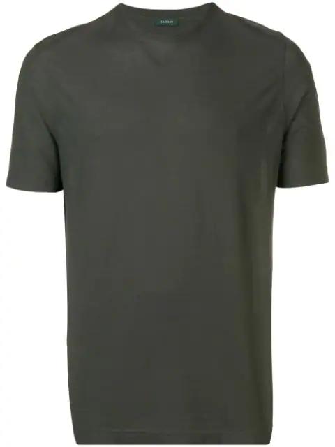 Zanone Green Crew Neck Jersey T-shirt