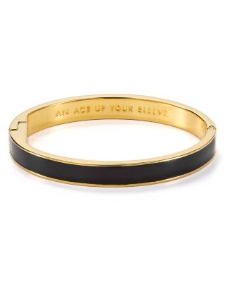 Kate Spade Ace Up Your Sleeve Idiom Bangle In Black