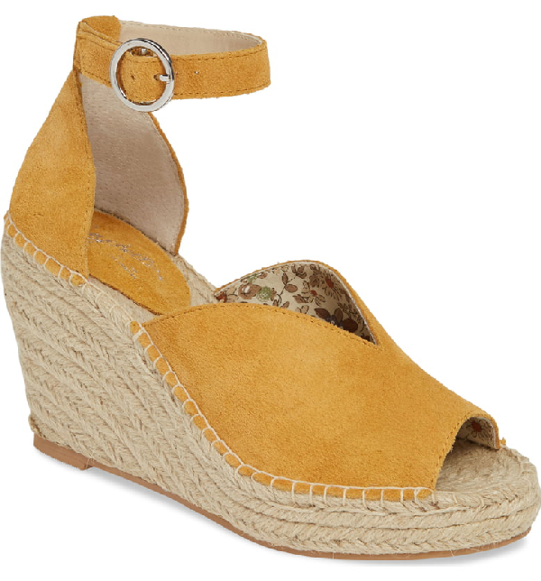 d2db5d1d4f1 Collectibles Espadrille Wedge Sandal in Mustard Suede