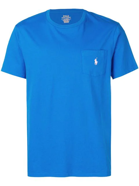 Polo Ralph Lauren Embroidered Logo T-shirt In Blue