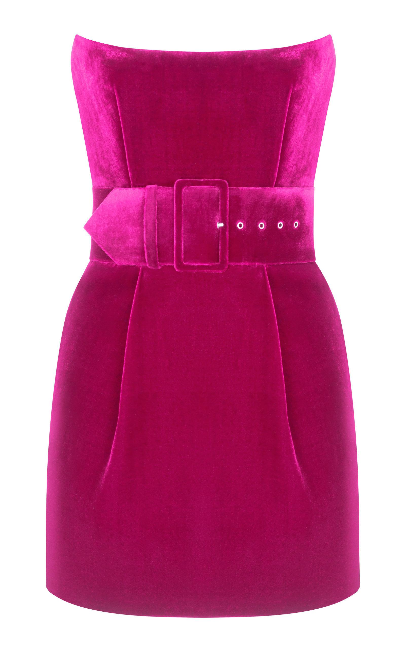 45d5d9a8a0dc Rasario Silk-Blend Velvet Corset Mini Dress In Red   ModeSens