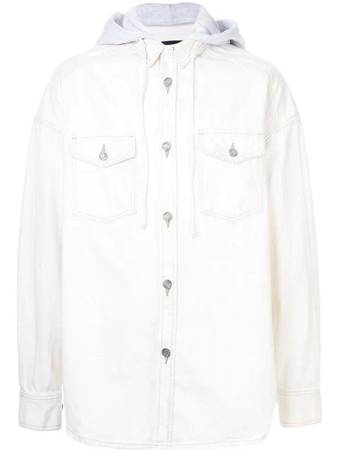 Juun.J Hooded Shirt In White