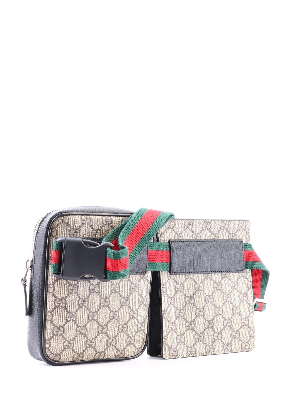25e586de2096a9 Gucci Gg Supreme Stripe Belt Bag In Multi | ModeSens