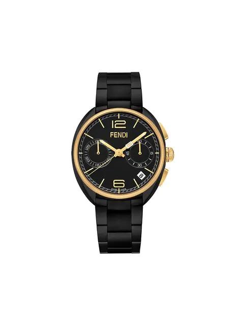 Fendi Stainless Steel Watch, 40mm In Black
