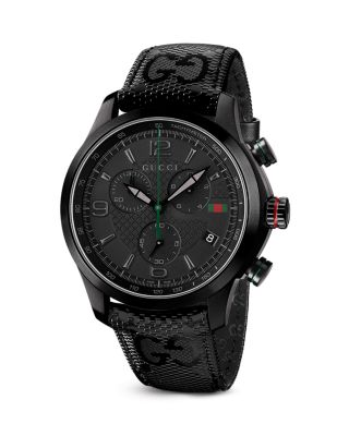 Gucci Timeless Polished Black Pvd Coated Stainless Steel Watch, 44mm