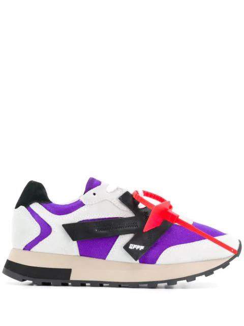 Off-White Hg Runner Low-Top Suede Sneakers, Purple