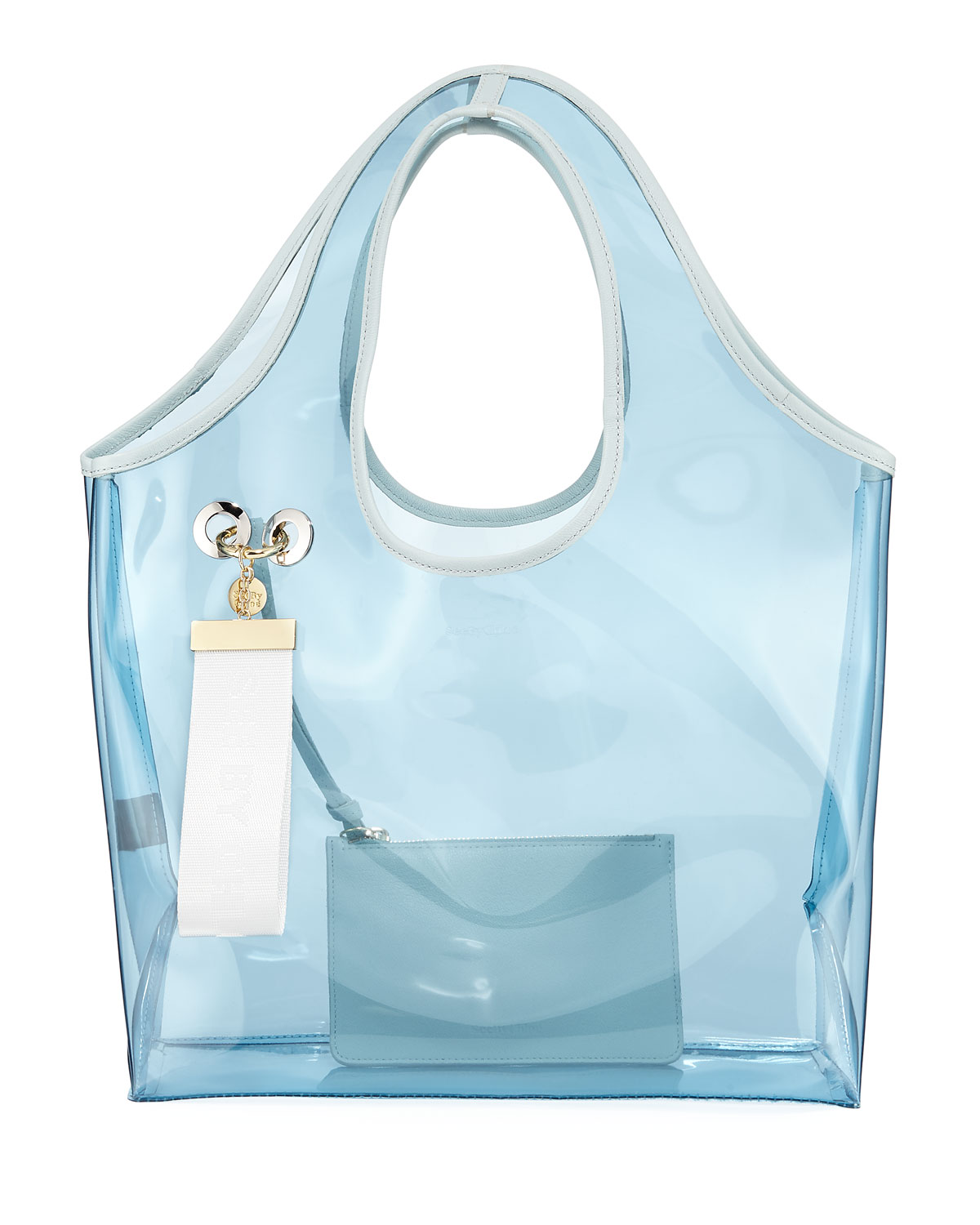 4b71bdf8c52 See By ChloÉ Jay Transparent Tote Bag, Light Blue | ModeSens