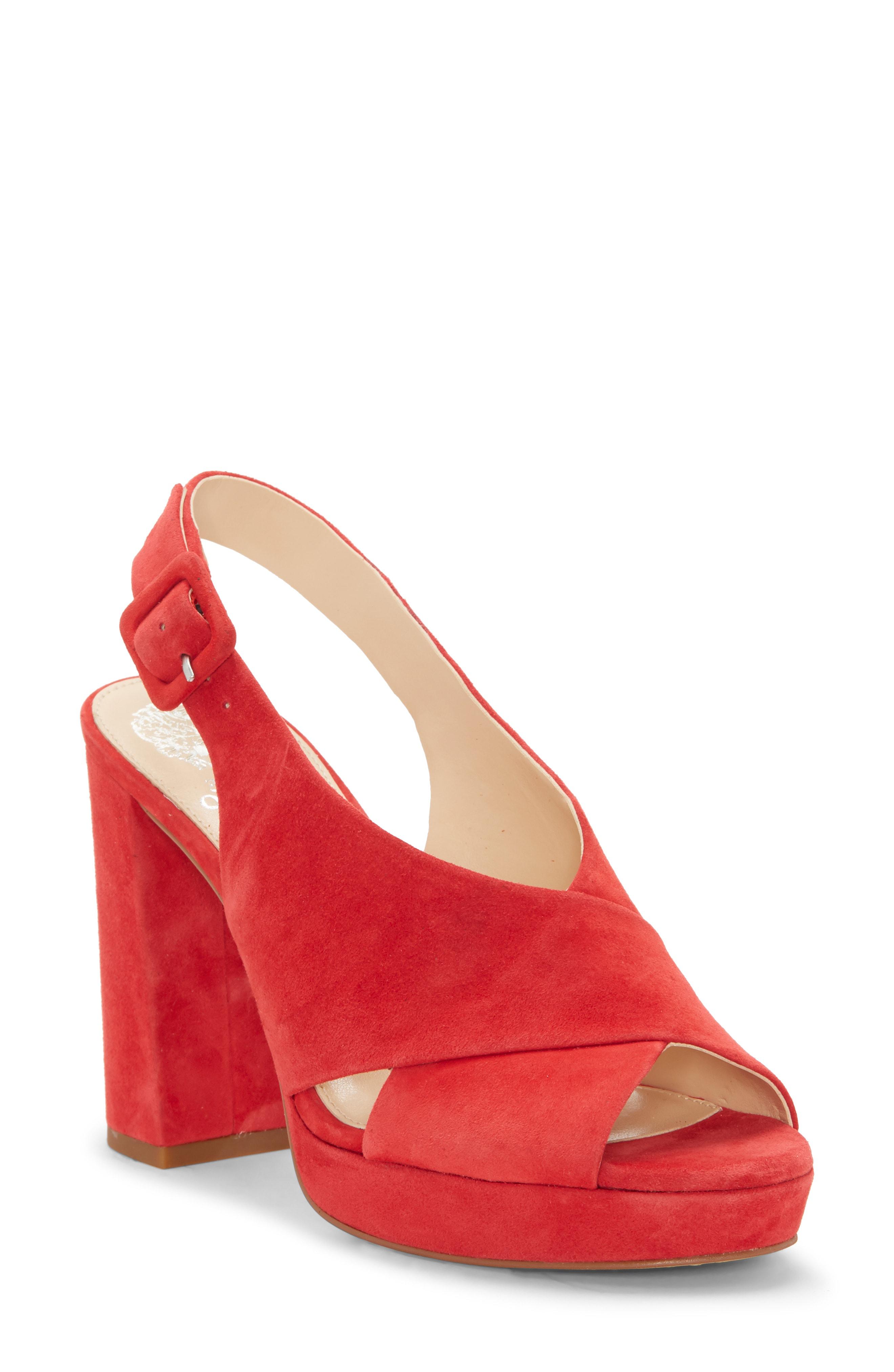 724483933b9 Vince Camuto Slingback Platform Sandal In Glamour Red Suede