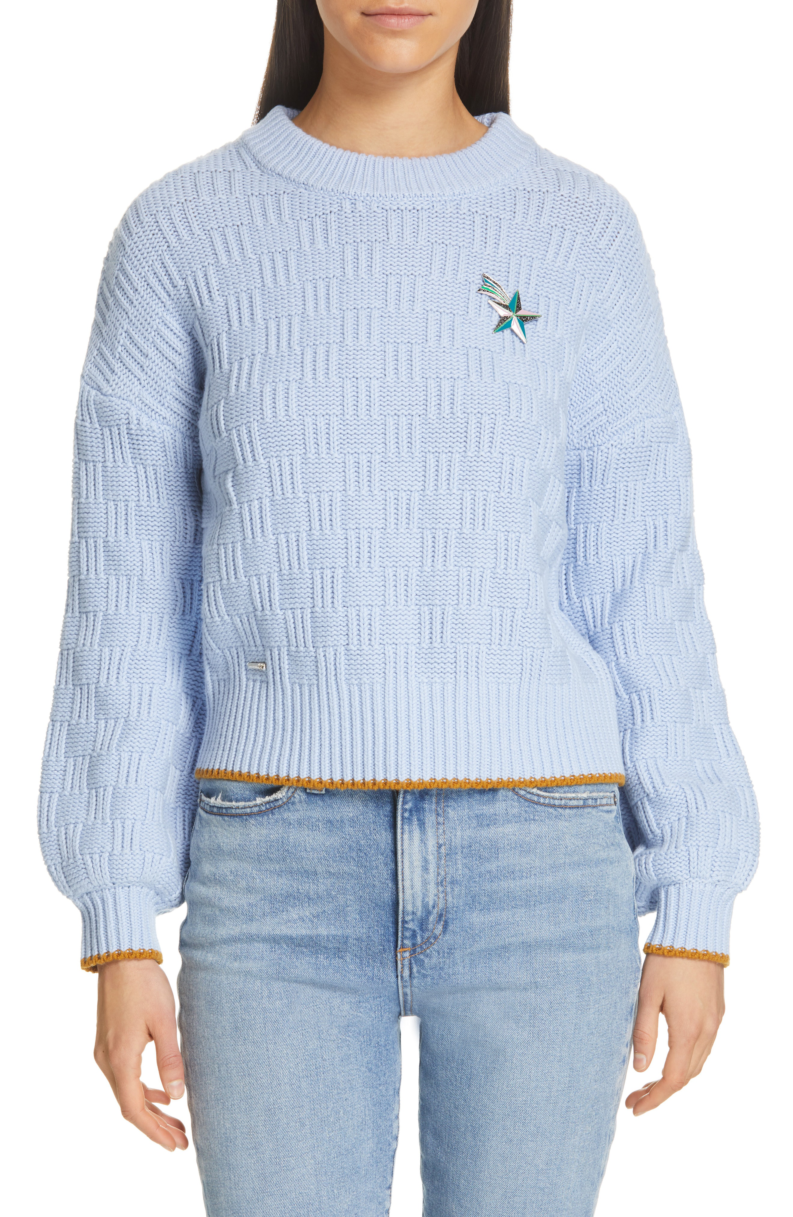 Ted Baker Colour By Numbers Luisa Sweater In Light Blue