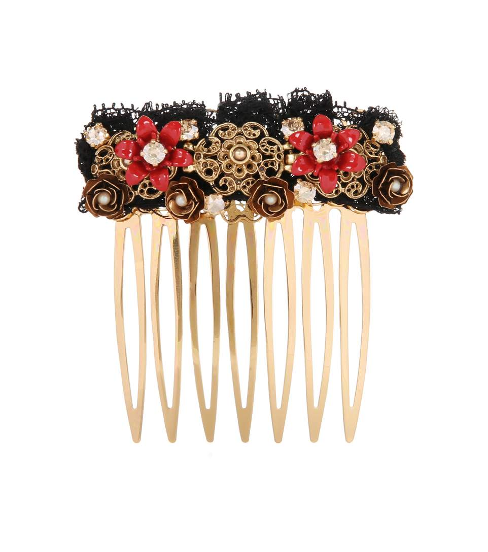 Dolce & Gabbana Exclusive To Mytheresa - Embellished Hair Comb In Multicoloured