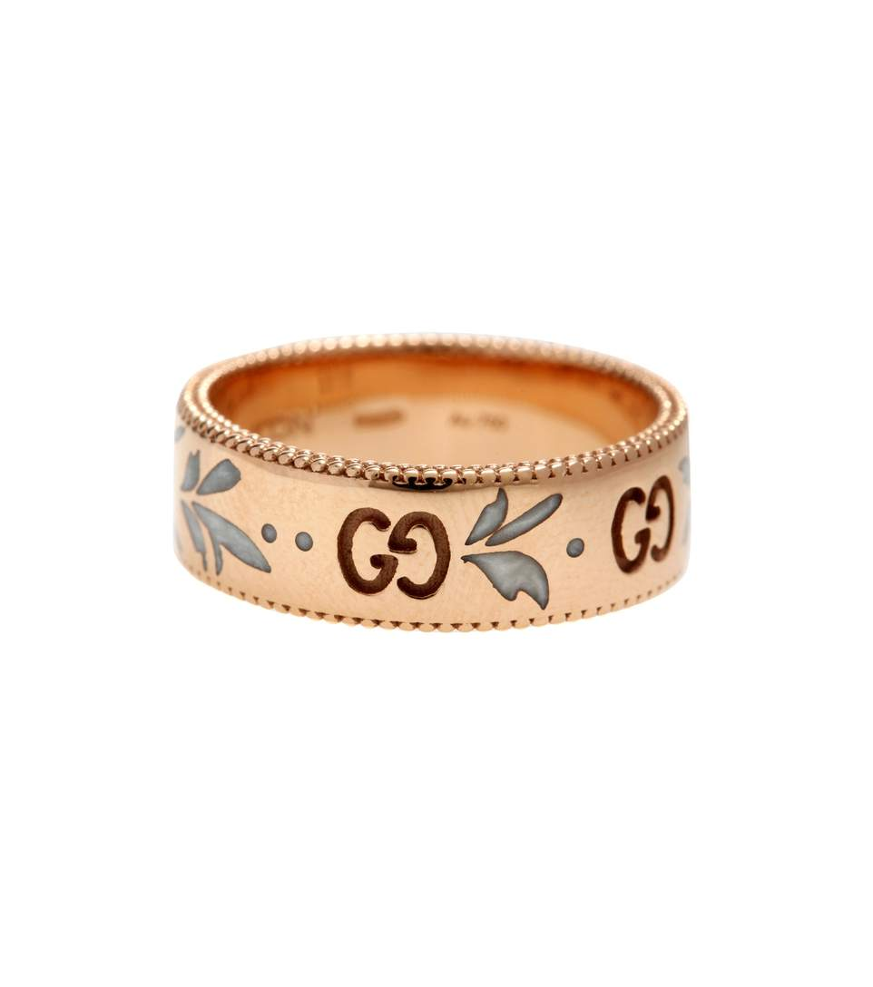 Gucci Icon Ring In 18kt Rose Gold