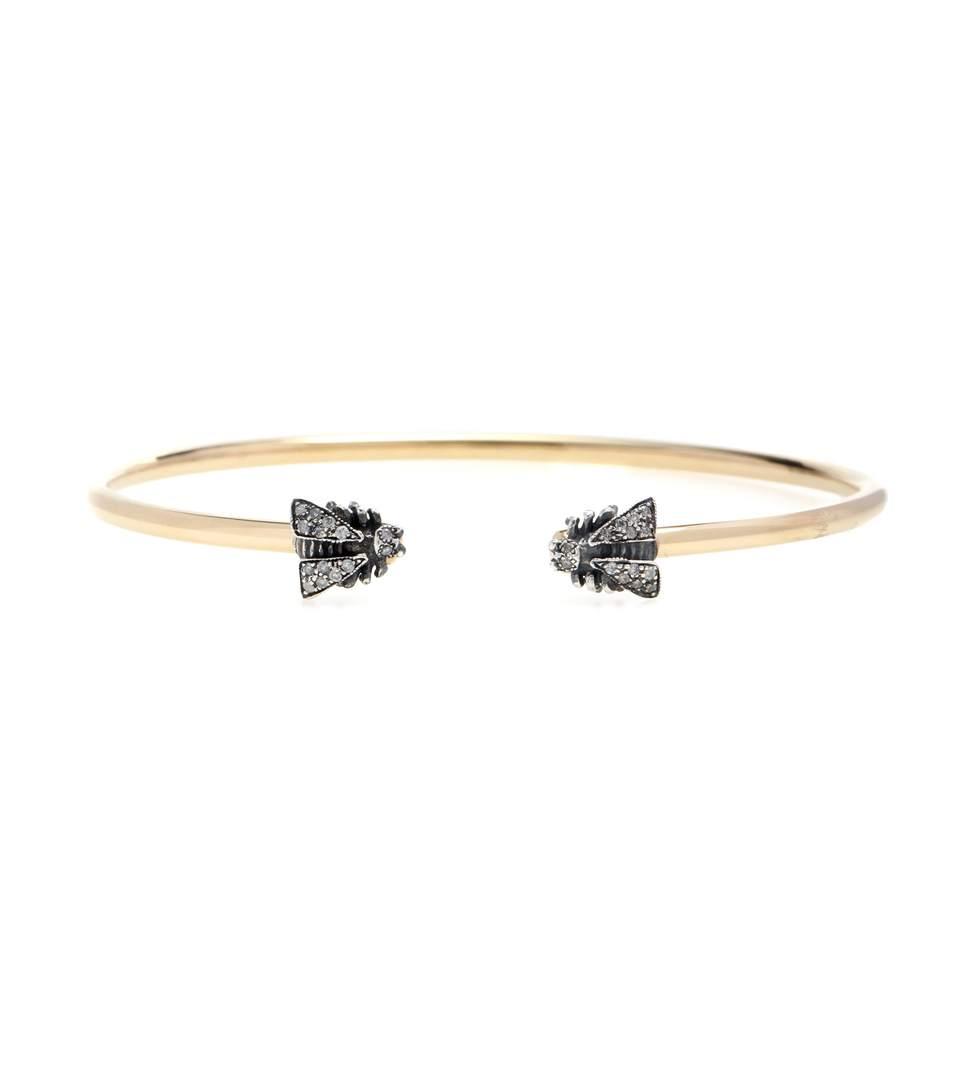 Gucci Le MarchÉ Des Merveilles 18kt Yellow Gold Bracelet With Diamonds In Yellow, Gold