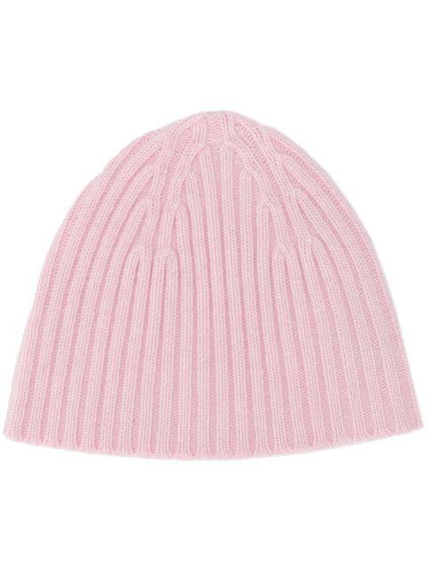 ff1a39f73 Pringle Of Scotland Ribbed Cashmere Beanie - Pink