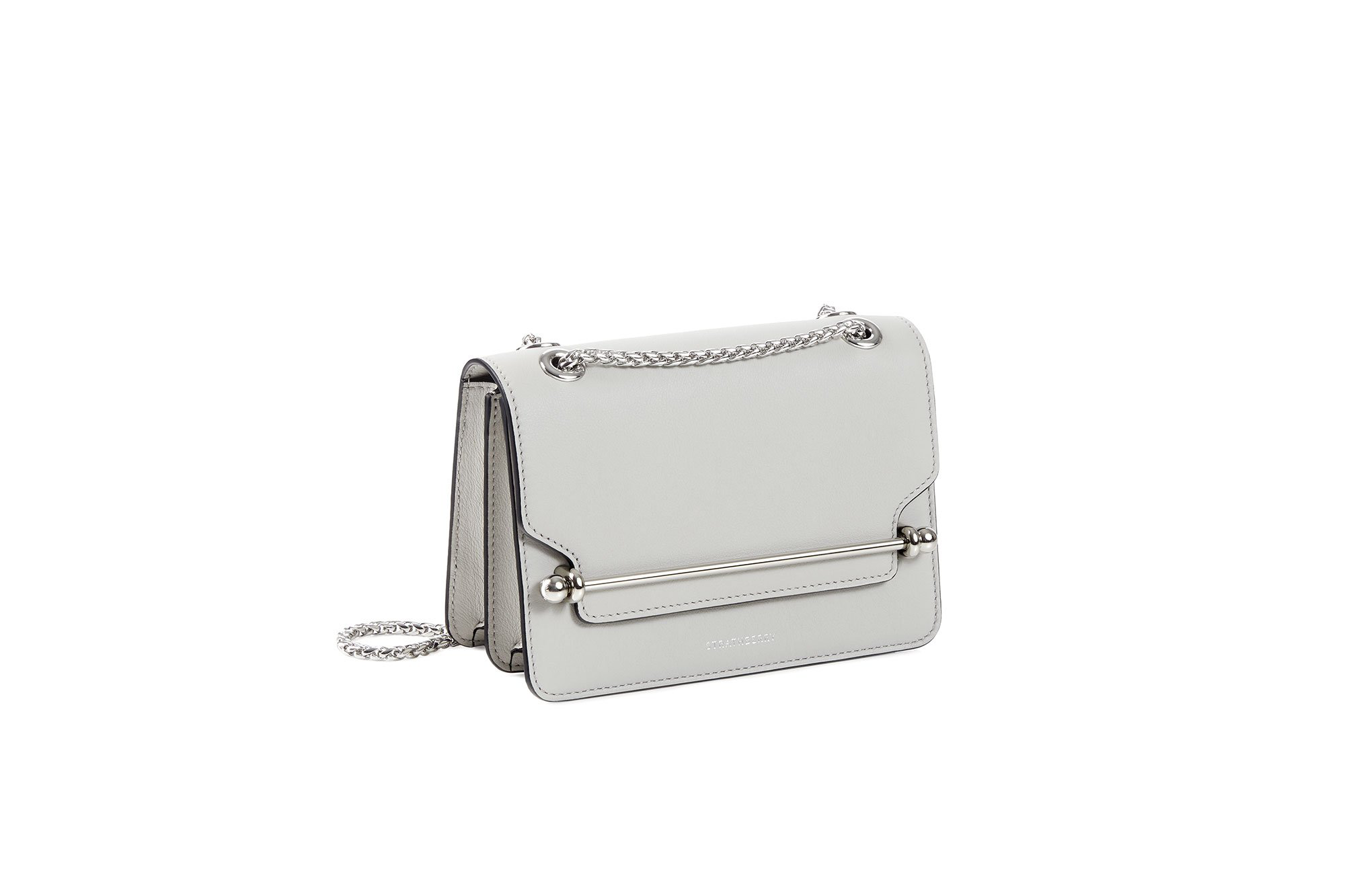 Strathberry East/West Mini - Pearl Grey (Silver Hardware)