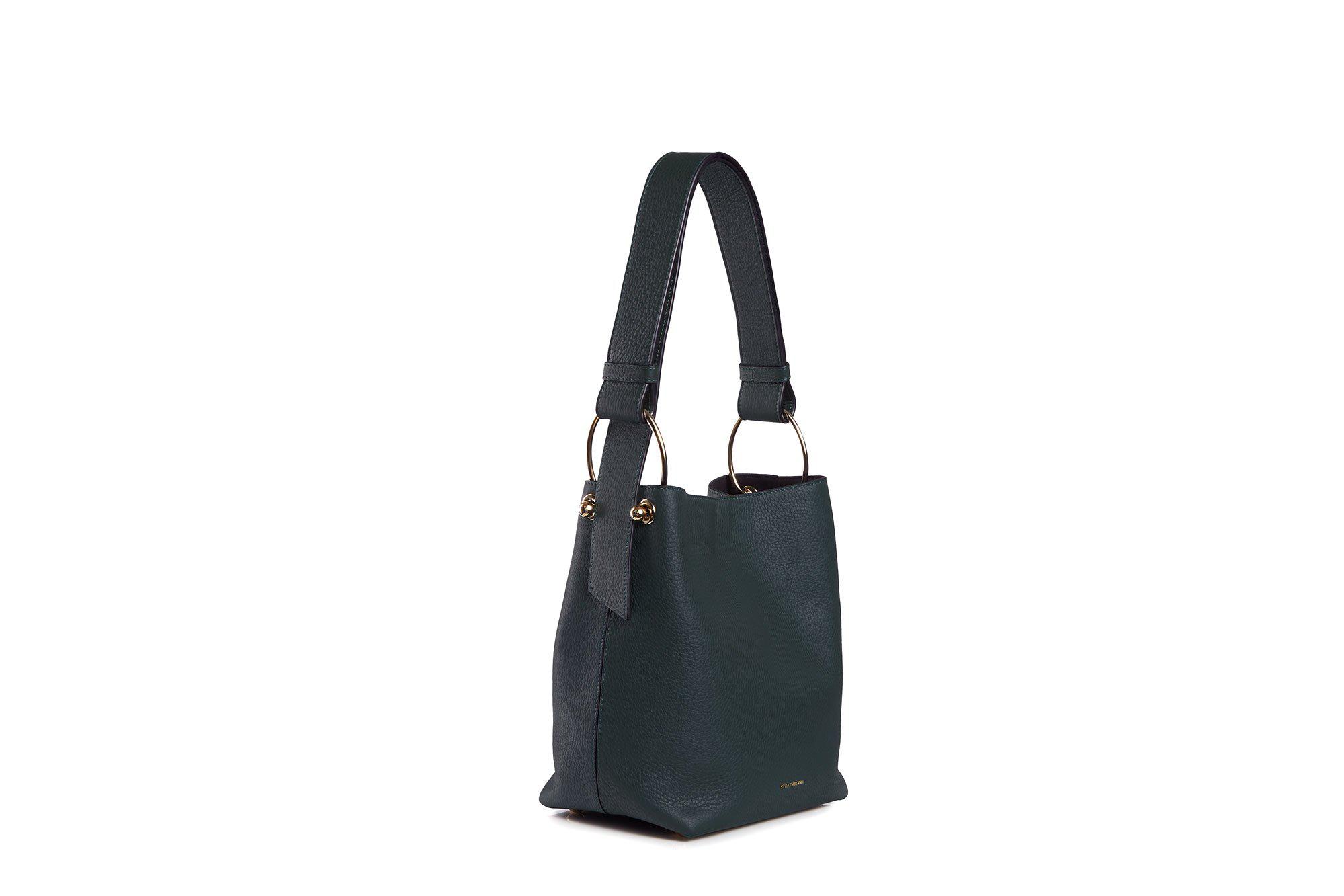 Strathberry Lana Midi Bucket Bag - Bottle Green