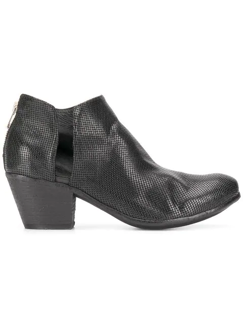Officine Creative Giselle Woven Ankle Boots In Black