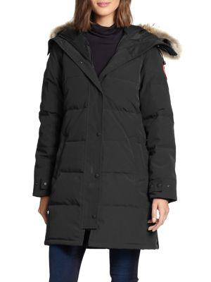 Canada Goose Shelburne Fur-Trim Parka In Black