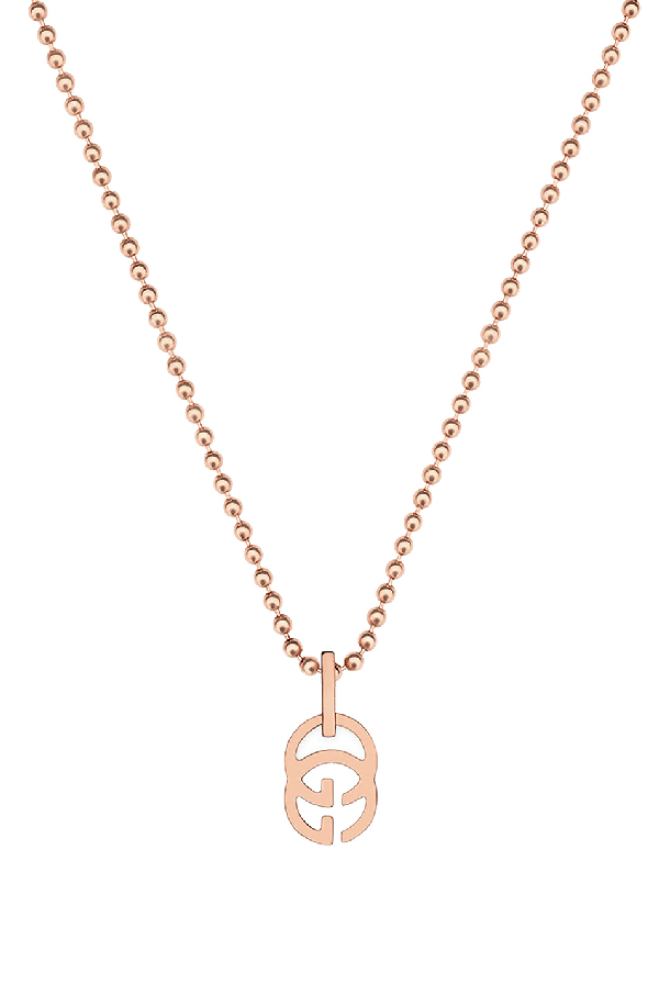 """Gucci 18k Yellow Gold Running G Necklace, 17.71"""" In Metallics"""
