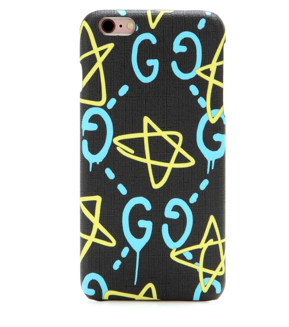 Gucci Gg Writers Graffiti Iphone 6/6s Case, Black/multi, Black Multi