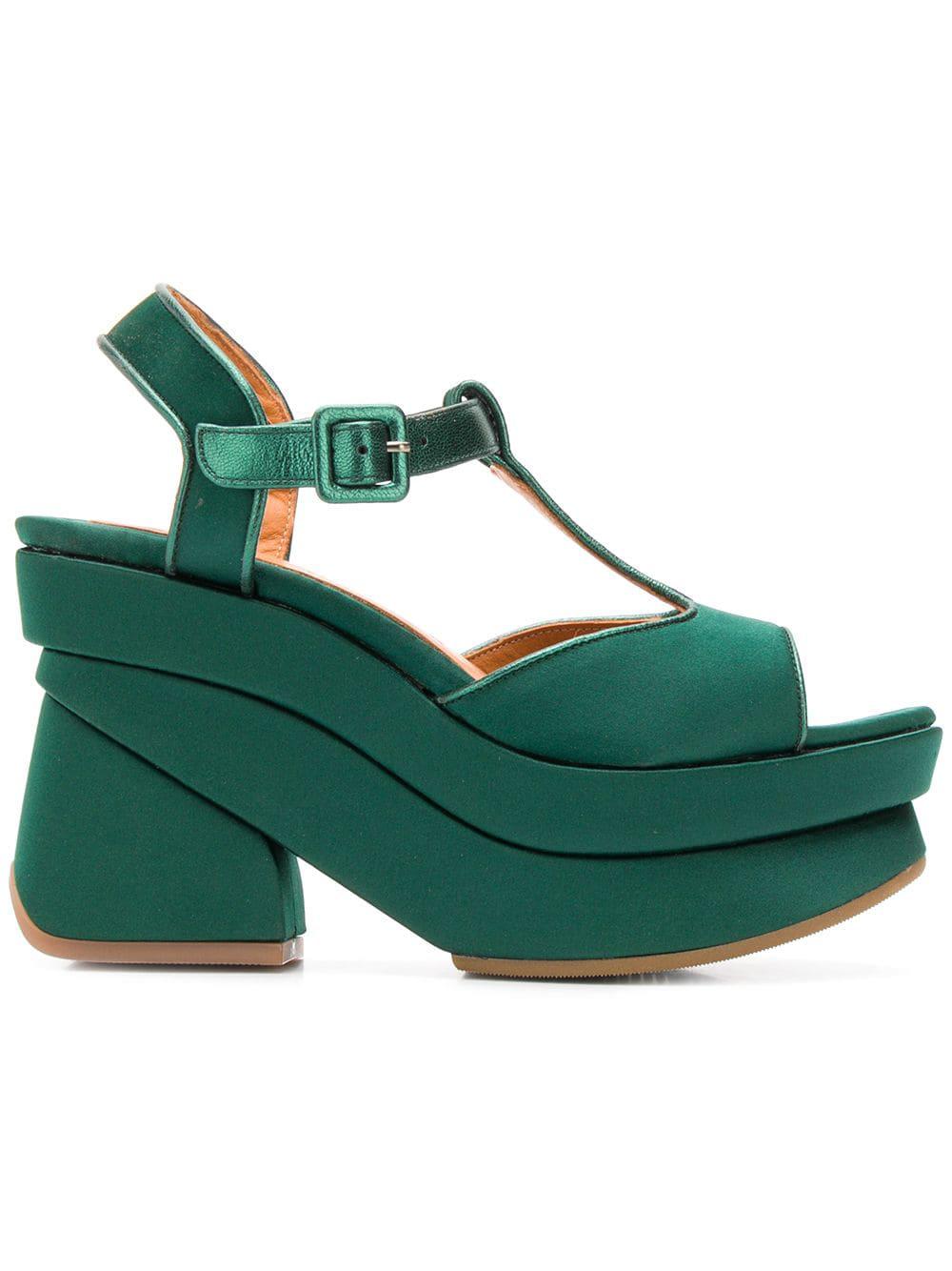 264fdae42f1 Chie Mihara Vreni Platform Sandals - Green. Farfetch