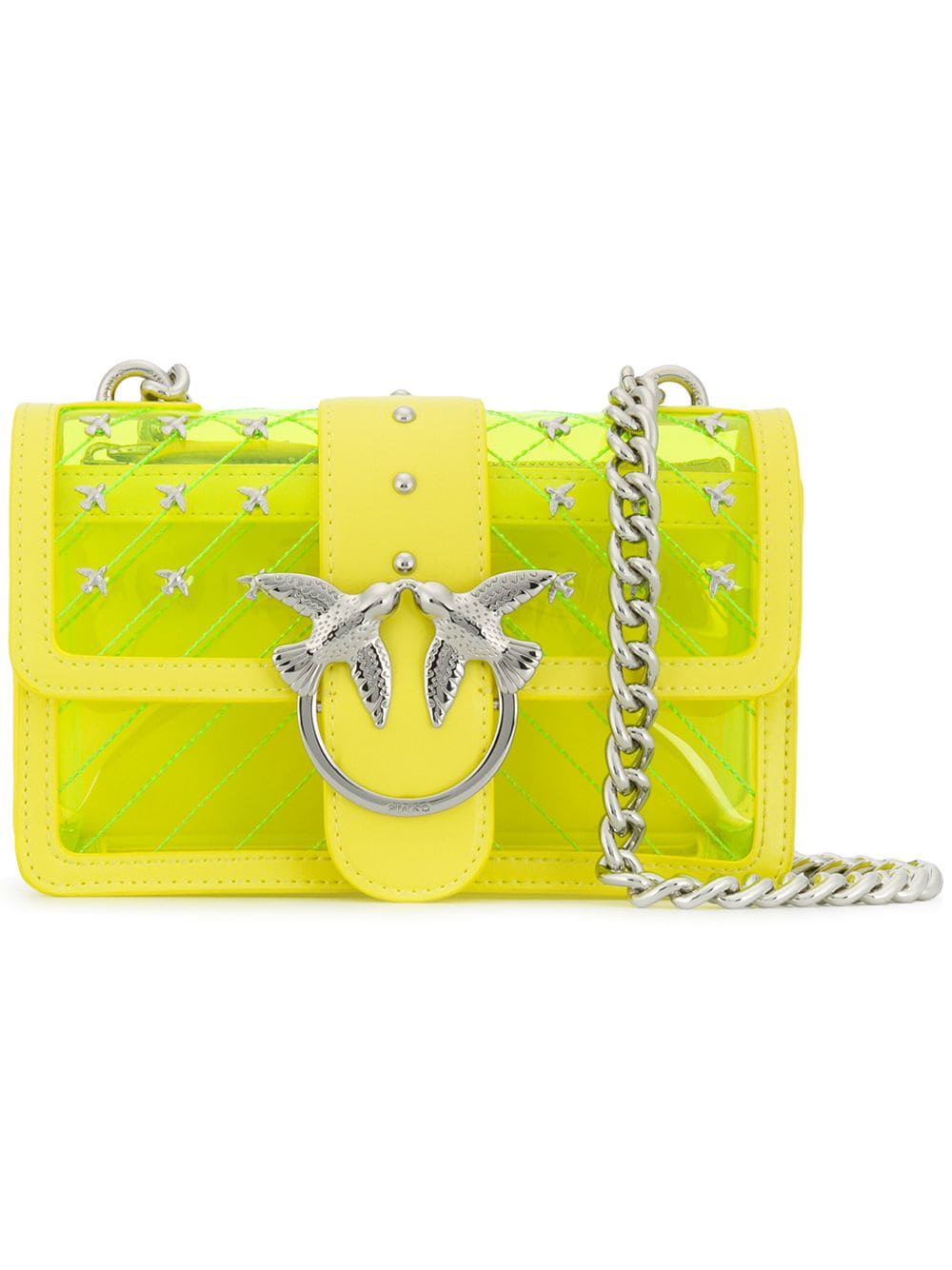 5418696996d Pinko Love Quilted Shoulder Bag - Yellow | ModeSens
