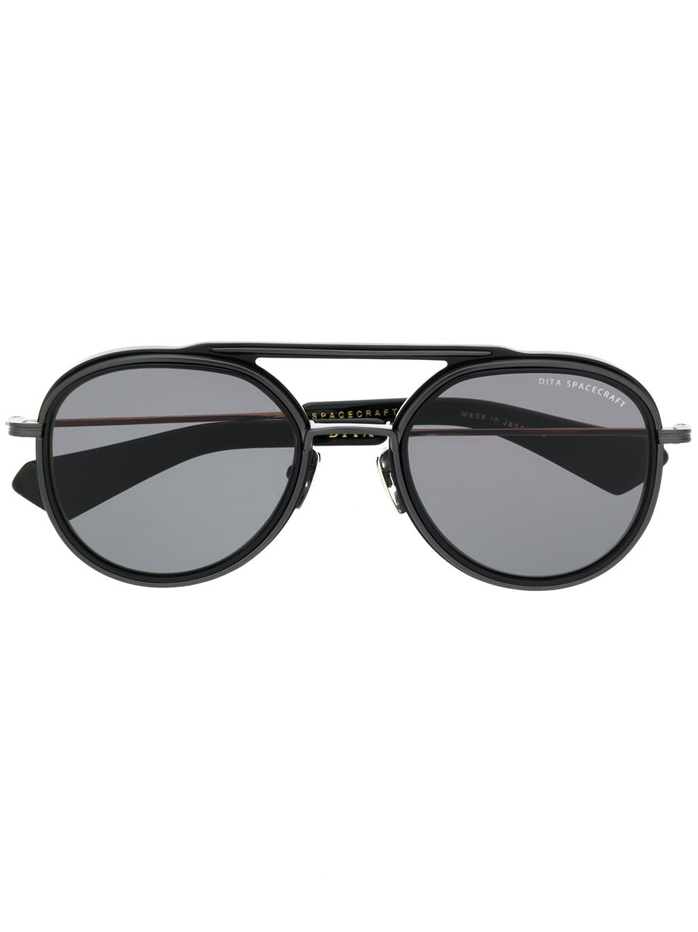 Dita Eyewear Side-frames Aviator Sunglasses In Black