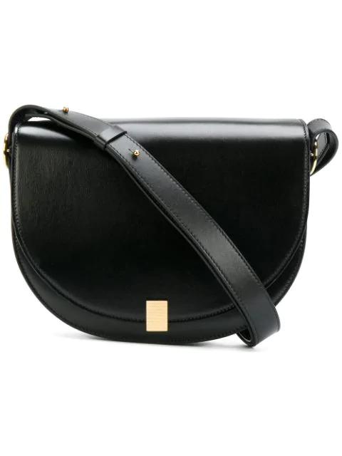 90de92dc6169 Victoria Beckham Woman Half Moon Box Nano Leather Shoulder Bag Black ...