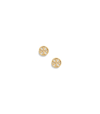 Tory Burch Ohrstecker Mit Rundem Logo In Tory Gold
