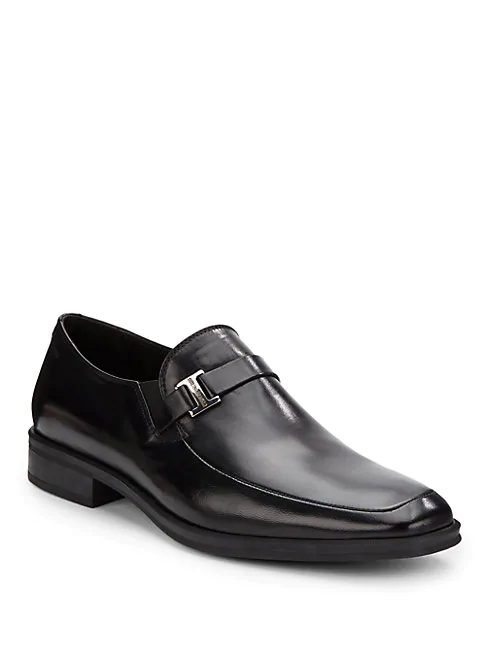 Bruno Magli Pivetto Leather Square-toe Loafers