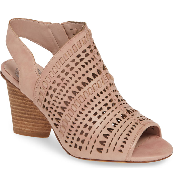 2390aa80e0b Vince Camuto Derechie Perforated Shield Sandal In Mod Pink Leather ...
