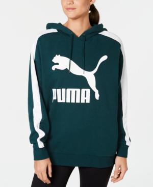 Puma Classic Logo T7 Hoodie In Ponderosa Pine