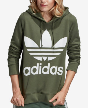 db7df93395dc Adidas Originals Trefoil Hooded Sweatshirt In Olive Green