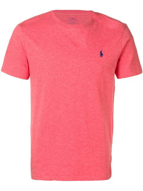 Polo Ralph Lauren Embroidered Logo T-shirt In Red