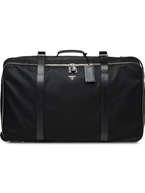 Prada Saffiano Suitcase In Black