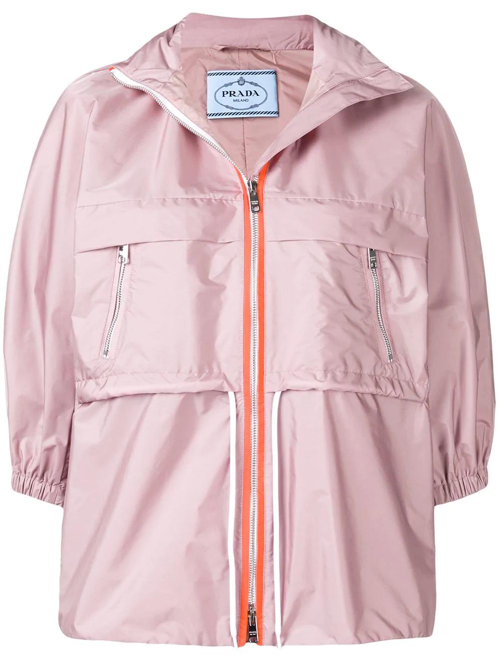 acec8a4973b9aa Prada Nylon Windbreaker Jacket In F0296 Rose | ModeSens