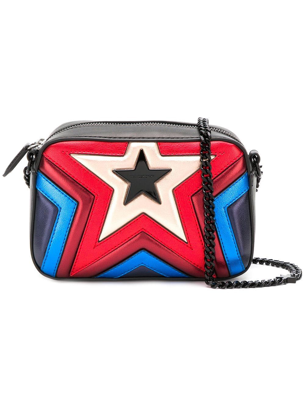 Stella Mccartney Multicoloured Star Quilted Vegan Leather Bag ... b6a706920fa22