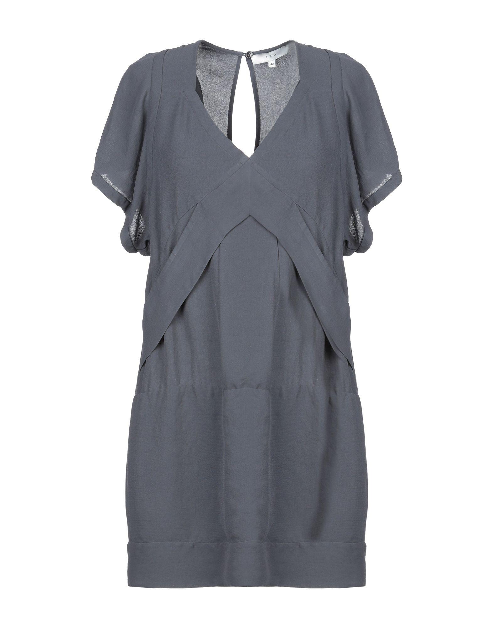 Iro Short Dress In Steel Grey