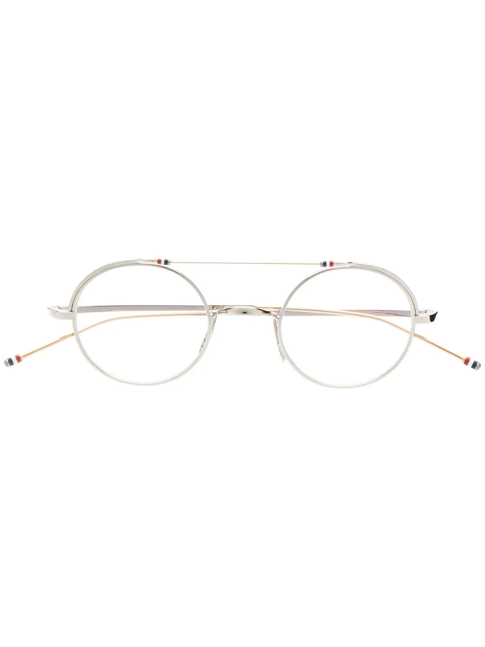c847589b8f61 Thom Browne Eyewear Round Frame Glasses - Silver. Farfetch
