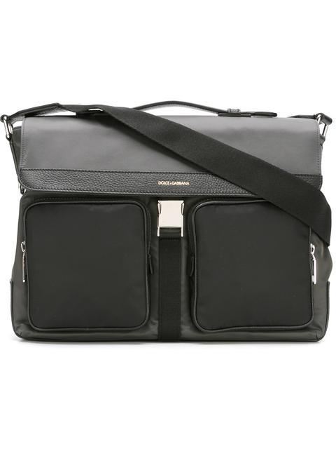 Dolce & Gabbana Flap Messenger Bag In Grey