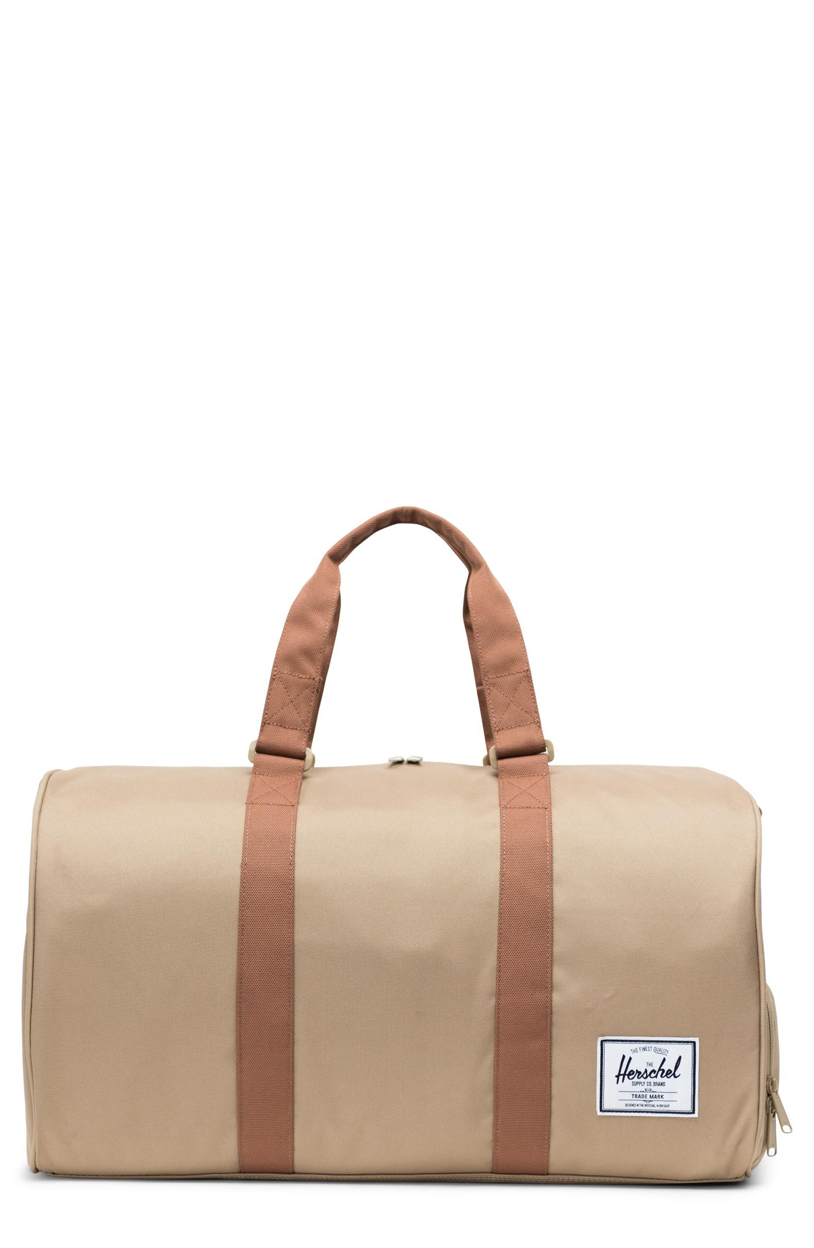 f0624c8e80f Herschel Supply Co. Novel Duffel Bag - Beige In Kelp  Saddle Brown ...