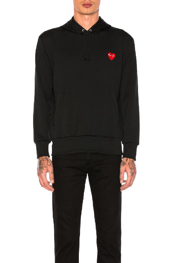Comme Des GarÇons Pullover Hoodie Sweatshirt In Black