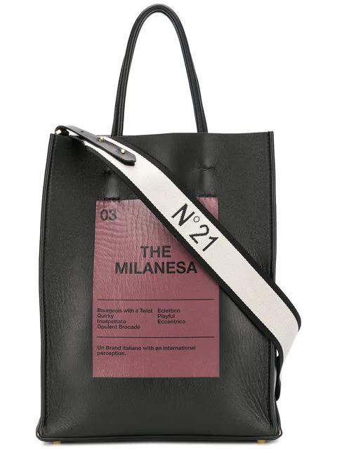 N°21 The Milanesa Tote In Black