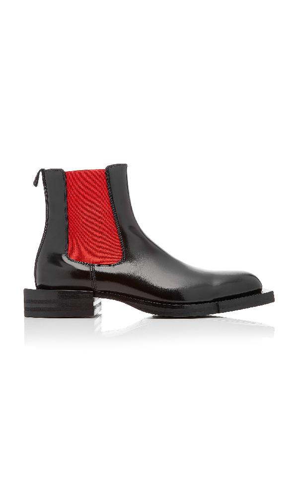 Alexander Mcqueen Black Patent Chelsea Boots