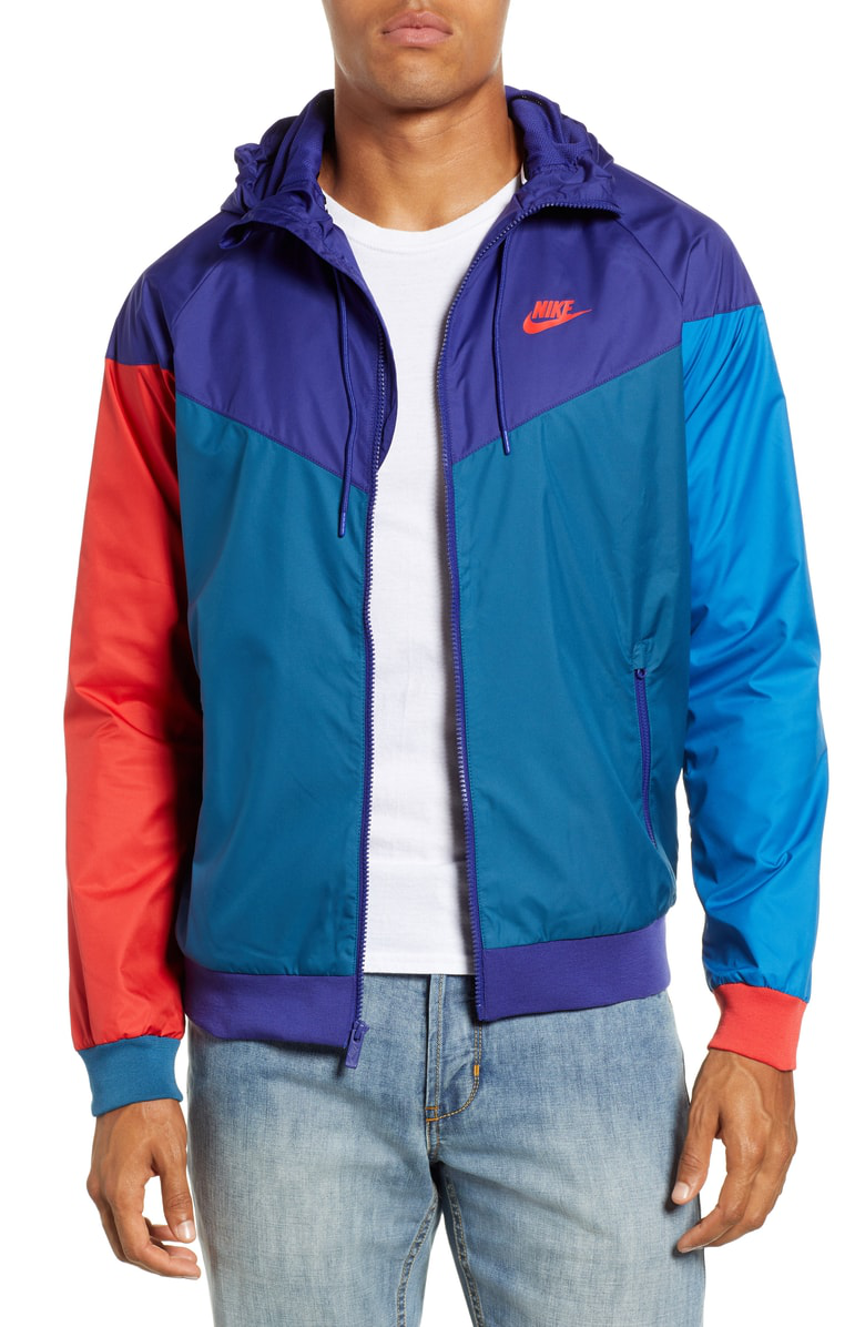 a92e1db82ca4 Nike Windrunner Colorblock Jacket In Purple  Blue  University Red ...