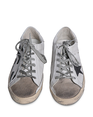 Golden Goose Unisex Superstar Leather Flag Low-Top Sneakers In White