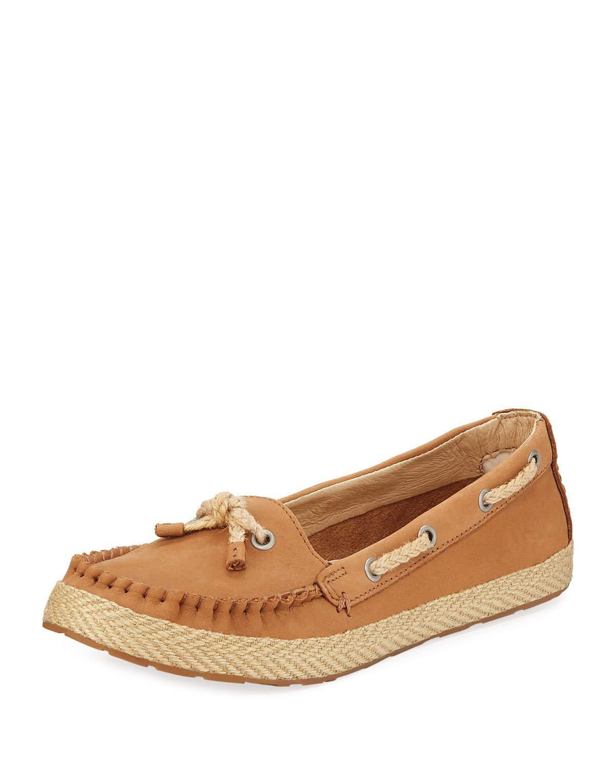 30288ac9b96 Ugg Chivon Leather Flat Loafers