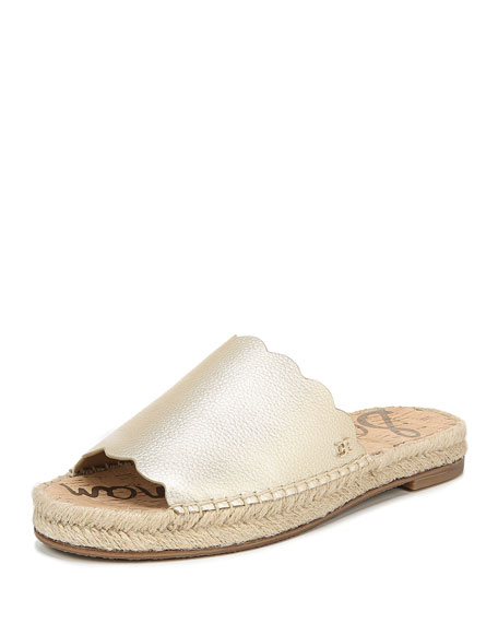 55612d45c8d Andy Metallic Leather Espadrille Slides in Jute