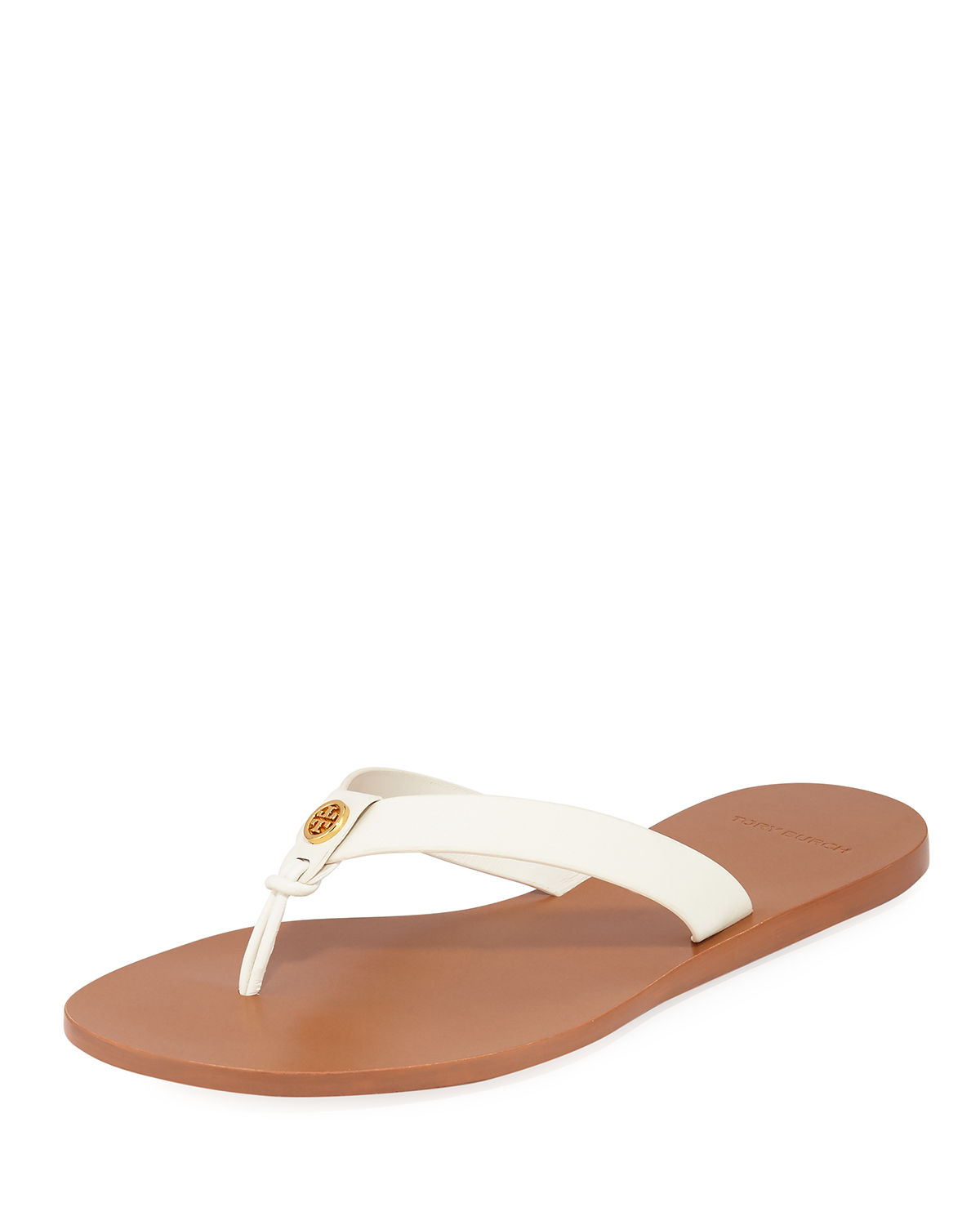 d519988f2248b4 Tory Burch Manon Leather Thong Sandals In Ivory