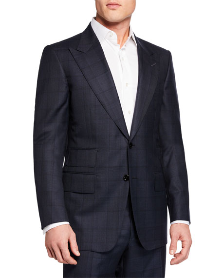 Tom Ford Men's Two-Piece Windsor Windowpane Suit In Navy